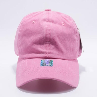 Pit Bull Pink Unstructured Low Profile Pigment Dyed Dad Hat Wholesale