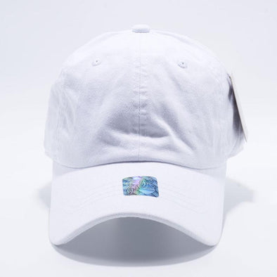 Pit Bull White Unstructured Low Profile Pigment Dyed Dad Hat Wholesale