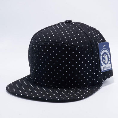 Pit Bull Polkadot Strapback Hats Wholesale [Black/white] Adjustable