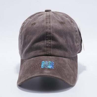 Pit Bull Brown Unstructured Low Profile Pigment Dyed Dad Hat Wholesale