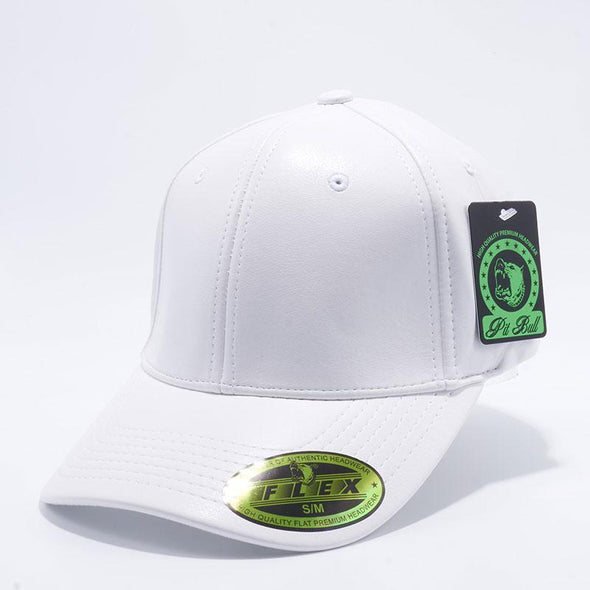 Pit Bull Pb205 Leather Size Fitted Caps Wholesale [White] S/m