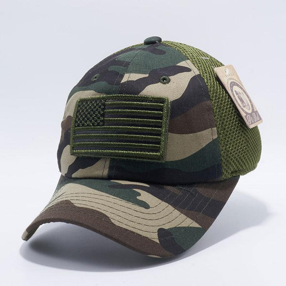 Pit Bull Dv557 Us Flag Velcro Patch Micro Mesh Hats [G.camo] Exclusive