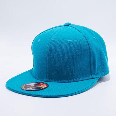 Pit Bull Blank Aqua Acrylic Flat Bill Baseball On-field Fitted Hats Wholesale