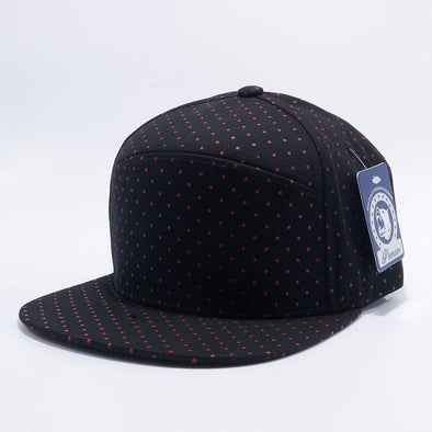 Pit Bull Polkadot Strapback Hats Wholesale [Black/red] Adjustable