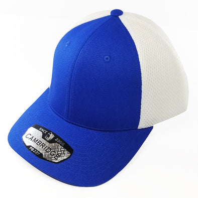 PB237 Pit Bull Cambridge Micro Mesh Back Trucker Hat [Royal/White]