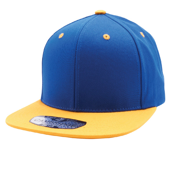 PB105 Pit Bull Cotton Snapback Hats  [Royal/Gold]