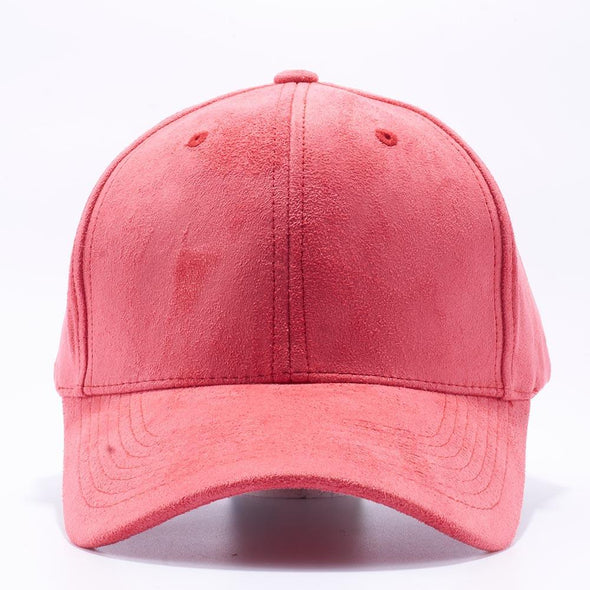 Pit Bull Suede Baseball Hats Wholesale [Red] Adjustable