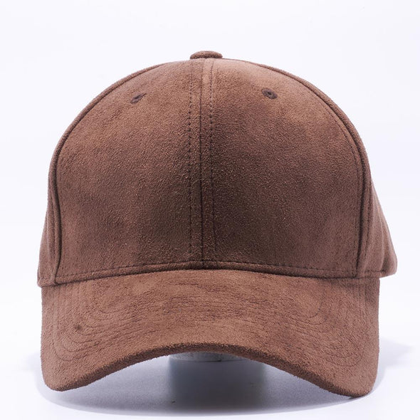 PIT BULL Brown Suede Baseball Hats Wholesale
