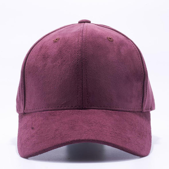 Pit Bull Suede Baseball Hats Wholesale [Wine] Adjustable