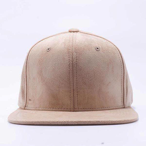 PB149 Pit Bull Suede Snapback Hats  [Stone]
