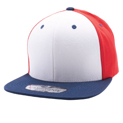 PB105 Pit Bull Cotton Snapback [Navy/White/Red]