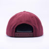 PIT BULL Maroon Wool Blend Snapback Hats Wholesale