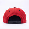 PIT BULL Red Black Wool Blend Snapback Hats Wholesale