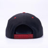 Pit Bull Wool Blend Snapback Hats Wholesale [Black/red]
