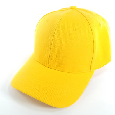 PB128 Pit Bull Hook And Loop Backstrap With Acrylic Curved Caps [Yellow]