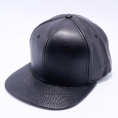 Pit Bull Cubic Leather Snapback Hats Wholesale [Black]