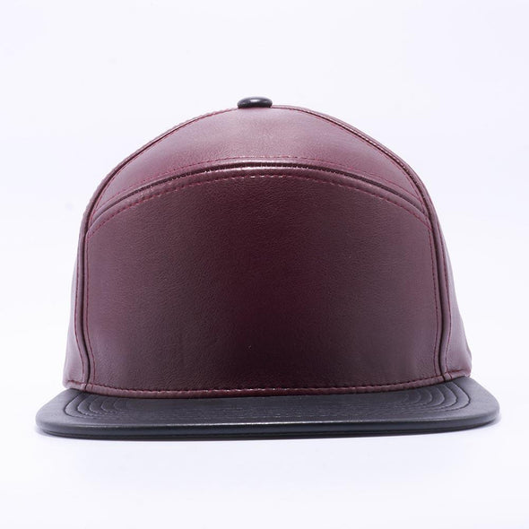 Pit Bull Hybrid Leather Velcro Hats Wholesale [Wine/black] Adjustable
