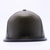 PIT BULL Blank Snapback Hats Wholesale, Custom Snapback Hats - Olive Black Hybrid Leather Hats