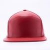 PIT BULL Blank Snapback Hats Wholesale, Custom Snapback Hats - Red Hybrid Leather Hats