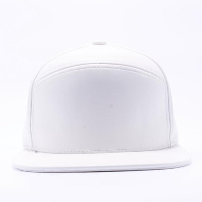 PIT BULL Blank Snapback Hats Wholesale, Custom Snapback Hats - White Hybrid Leather Hats