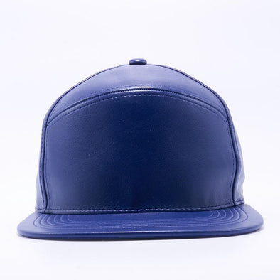 PIT BULL Blank Snapback Hats Wholesale, Custom Snapback Hats - Royal Hybrid Leather Hats