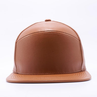 PIT BULL Blank Snapback Hats Wholesale, Custom Snapback Hats - Wheat Hybrid Leather Hats