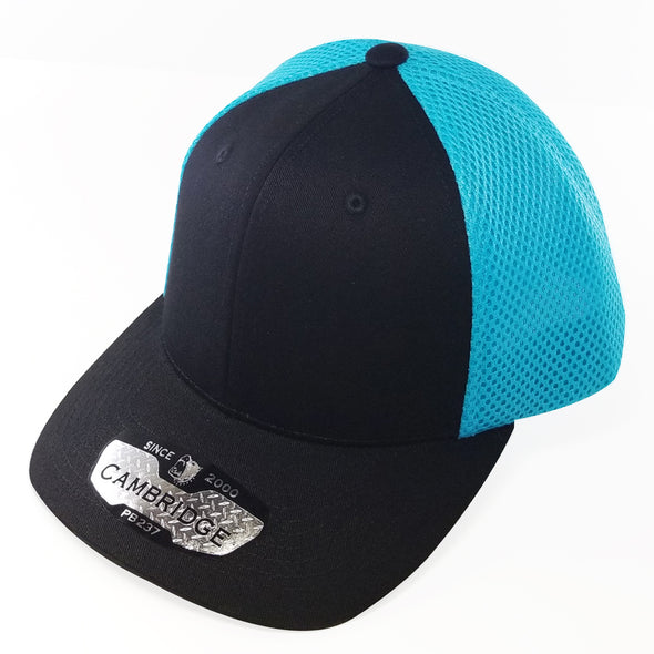 PB237 Pit Bull Cambridge Micro Mesh Back Trucker Hat [Black/N.Blue]