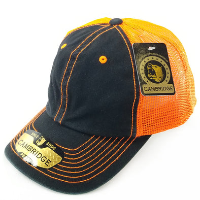 PB231 Pit Bull Cambridge Unstructured Dad Trucker Hat[Black/N.Orange]