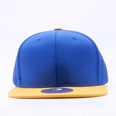 Pit Bull Perforated Snapback Hats Wholesale [Gold/royal]
