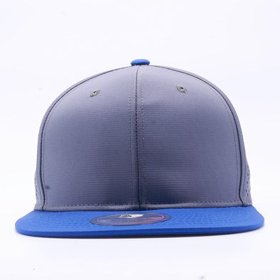 Blank Snapback Hats Wholesale, Custom Snapback Hats - Royal Grey Perforated Snapback Hats
