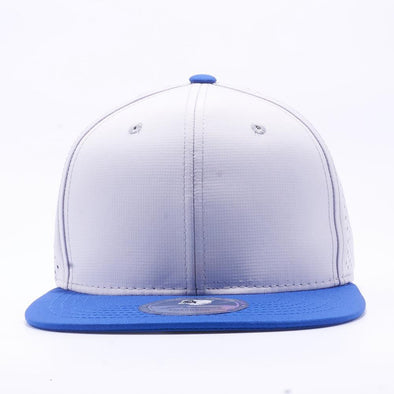 PIT BULL Blank Snapback Hats Wholesale, Custom Snapback Hats - Royal Silver Perforated Snapback Hats
