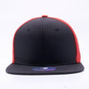 PIT BULL Blank Snapback Hats Wholesale, Custom Snapback Hats - Black Red Perforated Snapback Hats