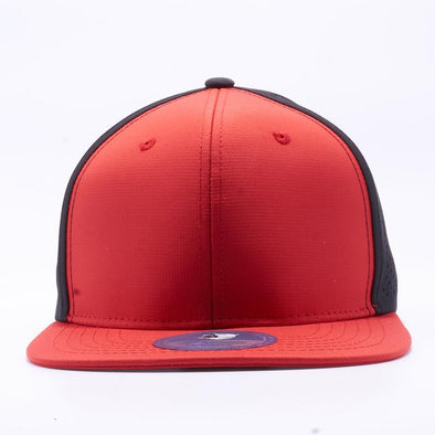 PIT BULL Blank Snapback Hats Wholesale, Custom Snapback Hats - Red Black Perforated Snapback Hats