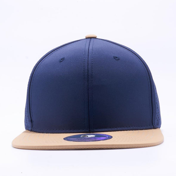Pit Bull Perforated Snapback Hats Wholesale [Millenium Gold/navy]