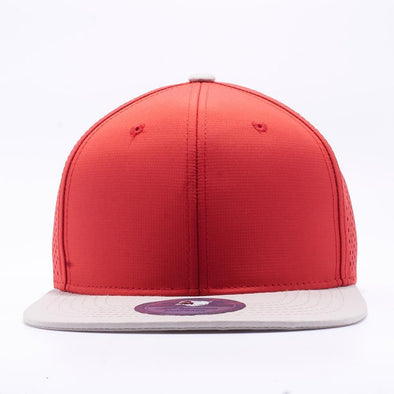 Pit Bull Perforated Snapback Hats Wholesale [Beige/red]