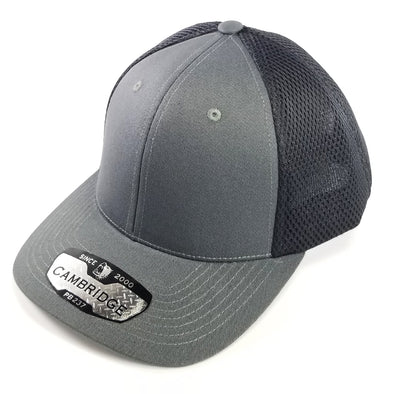 PB237 Pit Bull Cambridge Micro Mesh Back Trucker Hat [Charcoal/Black]