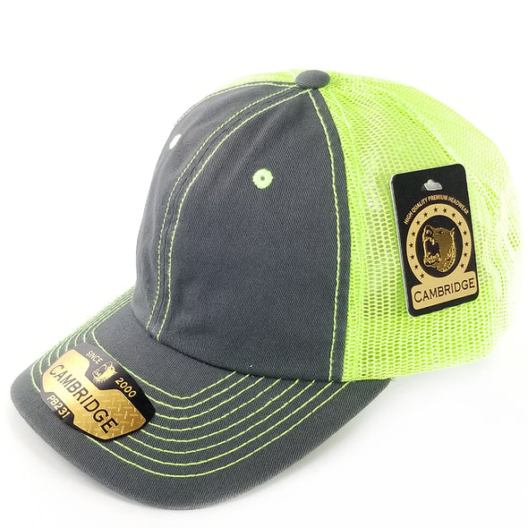PB231 Pit Bull Cambridge Unstructured Dad Trucker Hat[Charcoal/N.Green]