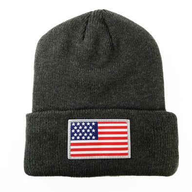 USA  Pit Bull  Cuffed Knit US FLAG patch Beanie Hats