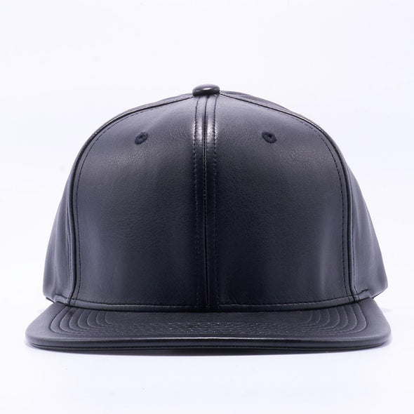 Pit Bull Leather Snapback Hats Wholesale [Black]