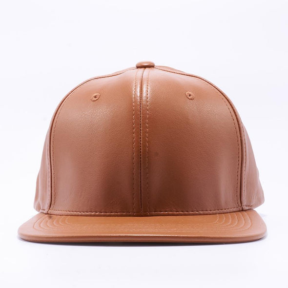 Pit Bull Leather Snapback Hats Wholesale [Wheat]