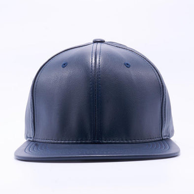 PIT BULL Navy Leather Snapback Hats Wholesale