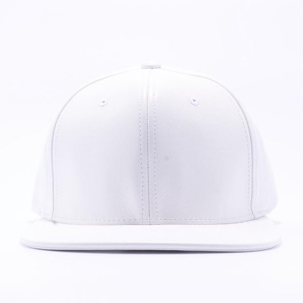 Pit Bull Leather Snapback Hats Wholesale [White]