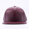 PIT BULL Wine BURGUNDY Leather Snapback Hats Wholesale