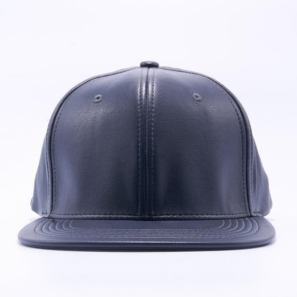 PIT BULL Charcoal Leather Snapback Hats Wholesale
