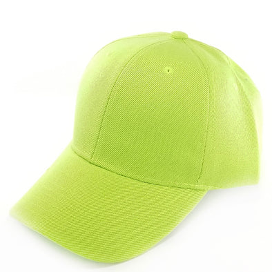 PB128 Pit Bull Hook And Loop Backstrap With Acrylic Curved Caps  [Lime]