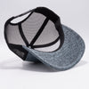 PB227 Pit Bull Cambridge Space Dyed Mesh Trucker Hats  [Charcoal/Black]