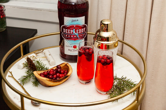 Deep Eddy Cranberry Champagne Cocktail