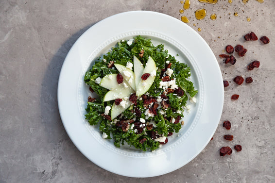 Kale, Apple, Cranberry, Pecan and Feta Salad