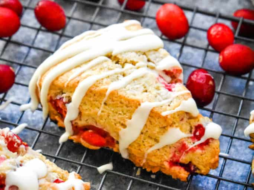 Cranberry Vanilla Bean Scones