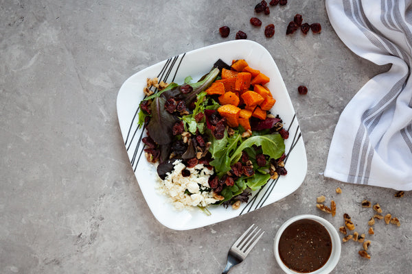 Roasted Butternut Squash, Cranberry, and Feta Salad